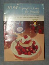 1958 Sears COLDSPOT Freezer Cookbook,How To Freeze,Store,Thaw & Recipes FREE SHP