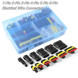 Vehicle Electrical Wire Connector Plug Terminal 1 2 3 4 5 6 Pin Way Fuse + Box