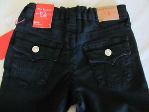 True Religion Geno Relaxed Slim Cut Off Shorts-Black- Boy's Size 6- NWT $59