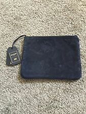 H&M Balmain Navy Blue Pouch Real Leather Sold Out Limited Edition