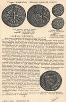 1904 FRENCH COIN MONEY POSTCARD - posted to Madeline Chaplain in Nancy France