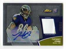 TANDON DOSS NFL 2011 FINEST ROOKIE PATCH AUTOGRAPHS (RAVENS) # 073 / 599
