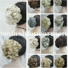 22 colors Short Curly Wavy claw clip ponytail hair pieces wig
