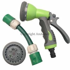 TEN SETTING Spray Gun With 2 Connectors for both ends of your Hose Pipe NEW