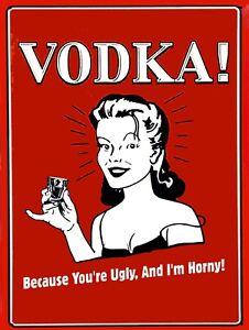 Vodka Joke, Retro metal Sign/Plaque Wall vintage / Bar Gift