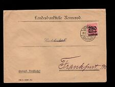 Germany Inflation Era District Bank Rennerod 1923 Scarce Cover 250k Mark Ovpt 5s