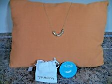 Panera Bread Mac and Cheese Sandwich Gold Plated Noodle Necklace New