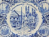 Le Vieux Montreal - Old Montreal Collector Plate by Wood & Sons, Made in England