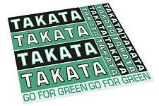 """* Oficial * Takata """"ir para Verde Hoja Pegatina * 14 Pegatinas Individuales! *"""
