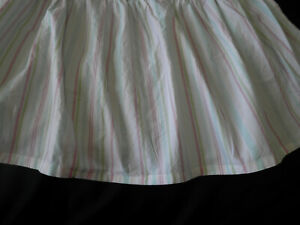 Simply Shabby Chic Kids Crib Skirt Candy Stripes Pastel Colors White Pink Blue