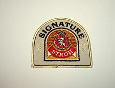 Vintage Stroh's Signature Beer Distributor Cloth Patch 1970s NOS New