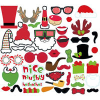 17~50pc Christmas Photo Booth Props Funny Face Xmas Party Picture NewYear Selfie