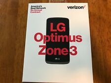 Brand New LG Optimus Zone 3 - Prepaid Verizon FREE MONTH Service 4G LTE $40 6GB