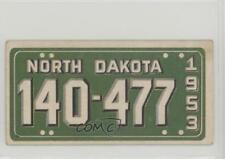 1953 Topps License Plates #62 North Dakota Non-Sports Card 0p6