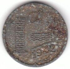 1942 Netherlands 1 Cent Zinc Coin