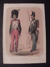 Esercito borbonico Zezon Guardia Reale Regno due Sicilie litografia originale