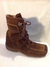Tamaris Brown Ankle Suede Boots Size 37