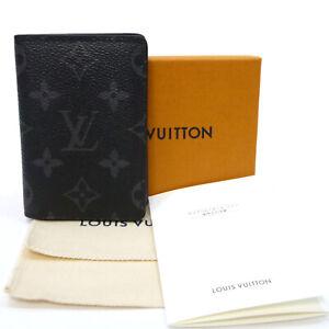 Auth LOUIS VUITTON Pocket Organiser Card Case Monogram Ecripse M61696 #K501012