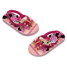 NEW DISNEY MINNIE MOUSE CLUBHOUSE PINK THONGS FLIP FLOPS SIZE 5-6