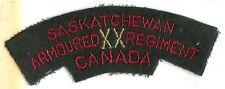 Canadian Army XX Saskatchewan Dragoons Battle Dress Shoulder Flash