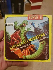 vintage SUPER 8MM movie DESTROY ALL MONSTERS Godzilla Ken Films horror Kaiju