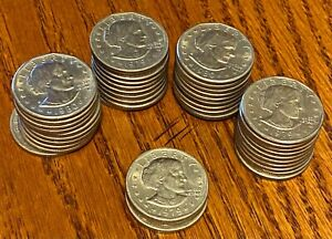 Susan B Anthony US Dollar Coin Lot  - $43 Face Value Free Shipping No Reserve