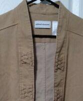 ALFRED DUNNER Women's Size 12 Camel  Open Jacket Denim-Like