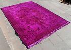 "Turkish Rug 67""x94"" Hand Woven Wool Overdyed Anatolian Carpet 172x240cm"