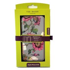 Ted Baker Grey Belion Oracle Flower iPhone X XS 10 Full Case Folio Cover Mirror