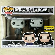 Addams Family MORTICIA and GOMEZ Black and White Pop EE Exclusive 2-Pack