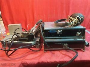 Radio station Walkie-talkie military set. Headphones, phone, 1000, 1400 Hz. USSR