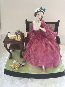 Royal Doulton Teresa.Figurine.HN1682.1930's. Very Rare And Lovely.6x6 Inches
