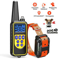 800M Rechargeable ECollar LCD Remote Control Electric Training Shock Pet Dog HOT