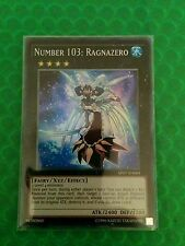 YUGIOH NUMBER 103: RAGNAZERO SUPER RARE GOOD AP07-EN009