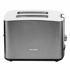 Sharp SA-CT2002A 2-Scheiben-Toaster Krümelschublade Stopptaste 850 Watt