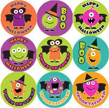 144 Monster Halloween 30mm Children's Reward Stickers for Teacher, Parent,