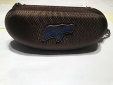 Maui Jim Sunglasses Case Brown Zippered Case with Belt Loop Clip - Excellent!