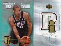 Dahntay Jones 2003-04 Upper Deck Glass Premium Issue Rookie Jersey Card