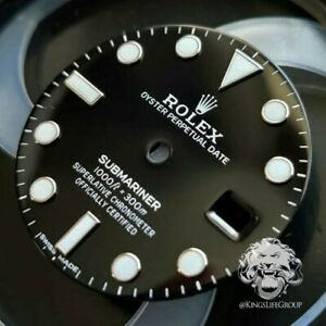 Genuine Rolex Submariner Dial 116610 LN Ceramic w/ Blue Chromalight