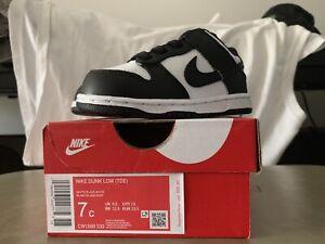 Nike Dunk Low White Black Retro 2021- Toddler Sizes 7C