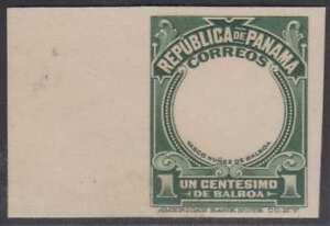 PANAMA 1909 BALBOA Sc 197 MARGINAL IMPERF PROOF GREEN FRAME ONLY UNUSED