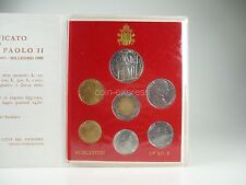*** LIRE KMS VATIKAN 1988 BU Lira Coin Set Vaticano Münzen vor Euro ***