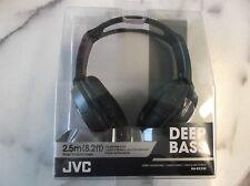 New listing Jvc Deep Bass stereo headphones Ha-Rx330 (black)