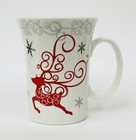 Coastline Imports TWINKLE REINDEER Fine Porcelain Christmas Coffee Mug Cup HTF