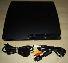 Playstation 3 Slim CONSOLE & CABLES ONLY w/ 120gb hard drive PS3 120 gb System