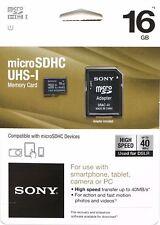 Sony 16GB Class 10 Micro SDHC R40 Memory Card (SR16UYA/TQMN) - FREE SHIPPING