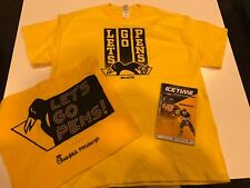 Pittsburgh Penguins 2018 Playoffs GOLD OUT Rally Towel & T-shirt Round 2 Game 4