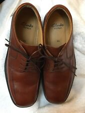 Homme CLARKS FLEX 24 Smart Brown Lace Up Chaussures UK 9.5