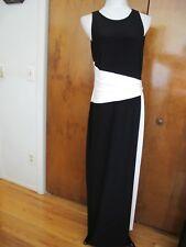 Ralph Lauren women's maxi black white evening stylish detailed NWT dress size 14