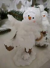 Snowman with Slide Decorative Figure Christmas Shabby Chic Decor Vintage